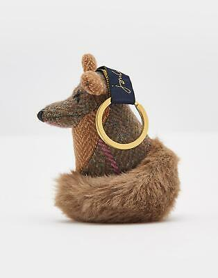 Joules Womens Tweedle Keyring in FOX in One One Size