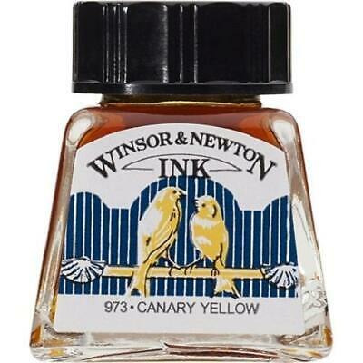 WINSOR & NEWTON DRAWING INK 14ml - Canary Yellow