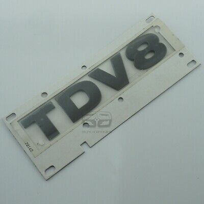 Silver Grey Tdv8 Lettering Badge Land Rover Discovery 3 4 Rear Back Tailgate
