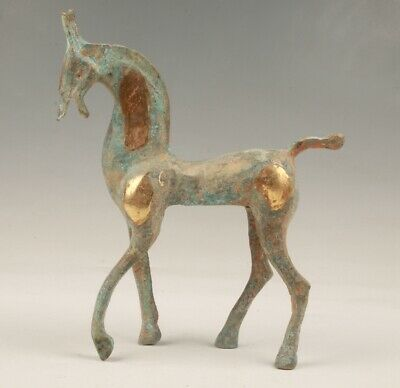 Chinese Old Bronze Hand-Cast Horse Statue Valuable Decorative Gift Collec