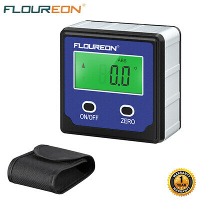 Angle Finder Cube LCD Digital Magnetic Protractor Gauge Level Table Saw w/Case