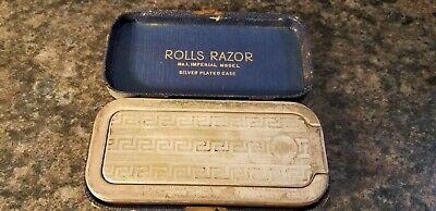 Vintage Rolls Razor No. 1 Imperial Model Silver Plated Case IOB w/Instructions