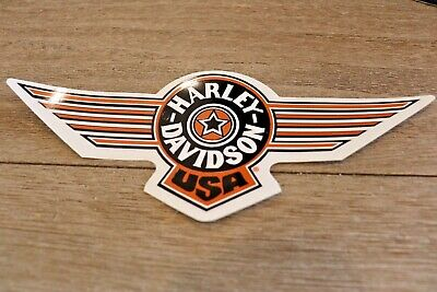 "New Harley Davidson Orange Fat Boy USA Decal Sticker Small Sized 8.5"" Outside"