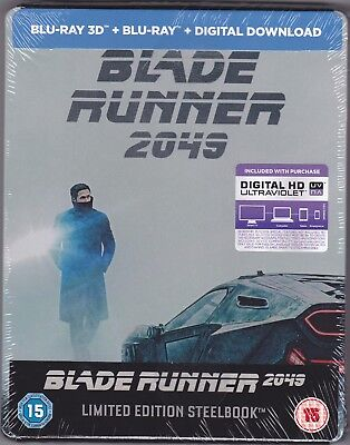 Steelbook - Blade Runner 2049 (Blu-ray 3-D, New & Sealed) A Great Sci-fi Movie
