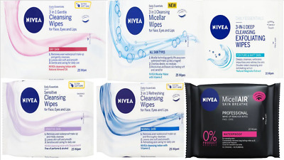 Nivea Daily Cleansing Wipes Gentle, Deep, Refreshing, Micellar or sensitive skin