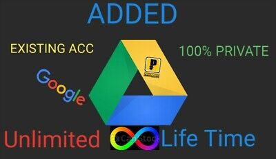 1+1 Free Unlimited Google Drive Storage Lifetime  On Existing Unlimited