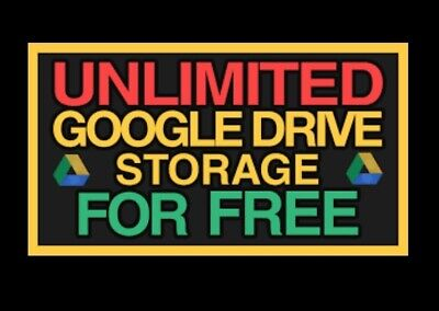 Lot of 20  Unlimited Google Drive Storage (For Your Existing Gmail or G Suite )