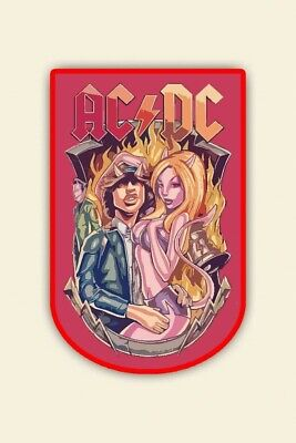 Ac dc Patch. Angus young.woven Limited on 100.pieces. finish in 4 weeks