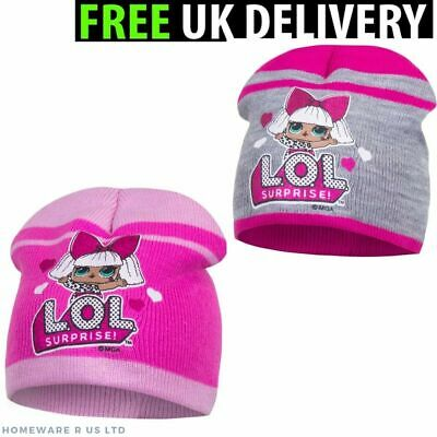 Girls Lol Surprise Pink Glitter Winter Beanie Hats  3 4 5 6 7 8 9 Years New Tags