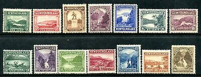 Weeda Newfoundland 131-144 F MH set of 14, 1923-24 Pictorial issue CV $132.75
