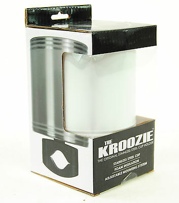 Kroozie Cups Hydration 2.0 Steel White Bicycle Drink Cup Holder
