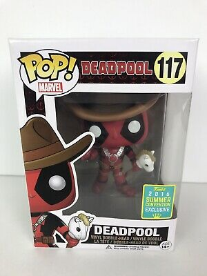 Funko POP SDCC 2016 Limited Edition Deadpool Cowboy With Unicorn #117