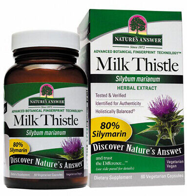 NATURES ANSWER - Milk Thistle Seed Standardized Extract - 60 Vegetarian Capsules