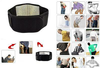 Back Heat Therapy Support Belt Self Heating Magnetic Wrap Brace Pain CF
