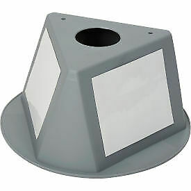 Inventory Cone Grey 3-Sided with Dry Erase Decal  - 1 Each