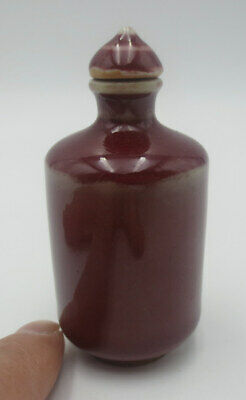 Free shipping!~LEAF marked! High Status Porcelain Snuff Bottle -Stunning!