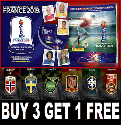 Panini FIFA Women's World Cup France 2019  ☆ FOILS ☆ BADGES ☆ Buy 3 GET 1 Free!