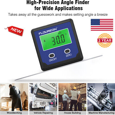 Digital Auto Gauge Level Angle Finder Protractor Bevel Box Magnetic Inclinometer