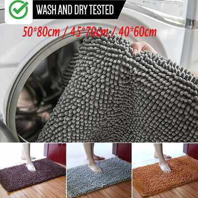 Small X Extra Large Thick Modern High Pile Plain Soft Non-Shed Shaggy Rugs New