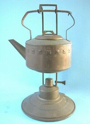 Secessionist  Hoffman  Brass Spirit Kettle and Burner