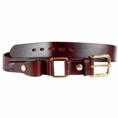 Stockmans Belt with Pouch Australian Made Leather Brass $119.99