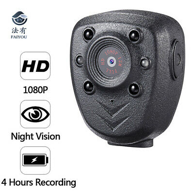 HD 1080P Police Body Video Camera DVR Night Visible LED LIGHT Recorder CAMCORDER