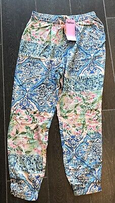 BNWT PETER ALEXANDER PA Ladies Floral Tiles Tappered Pant Pyjamas S RRP$79.95