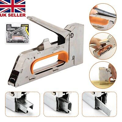 Heavy Duty Tacker Staple Gun 4/6/8mm Upholstery Stapler With 2500 x Staples New