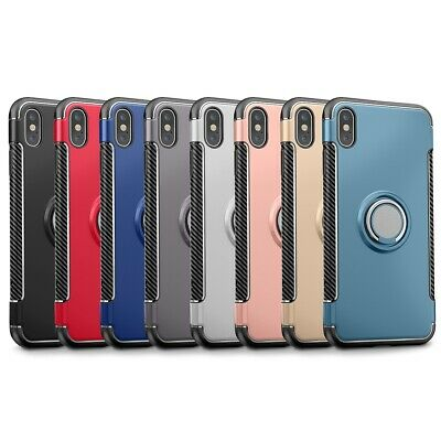 SHOCKPROOF RING STAND HOLD CASE COVER  FOR IPHONE 6 7 8 P Plus X XS XS MAX XR