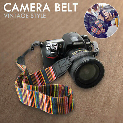 Camera Shoulder Neck Vintage Strap Belt For Canon, Nikon DSLR Multi-Color Paint