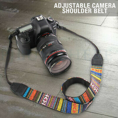 Vintage Soft Camera Shoulder Neck Strap Belt for Canon Nikon Sony SLR Adjustable