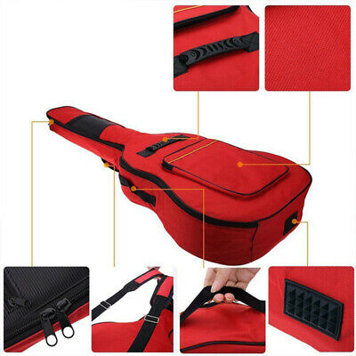 1x 41 Inch Guitar Double Straps Padded Backpack Case Gig Bag for Electric Guitar