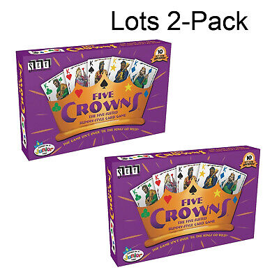 2-Pack Lots Five Crowns Card Game 5 Suites Classic Original Family Party Rummy