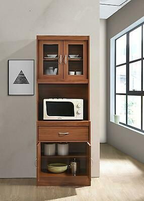Tall Microwave Cart Stand Kitchen Storage Cabinet Shelves Pantry