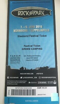 Rock im Park 2019 Green Camping Ticket