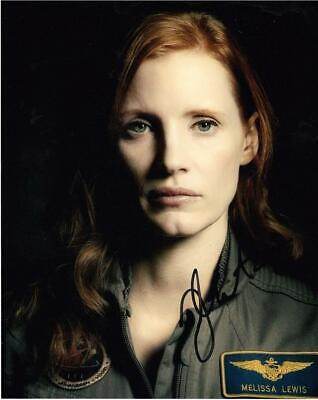 """Jessica Chastain - Colour 10""""x 8"""" Signed 'The Martian' Photo - UACC RD223"""