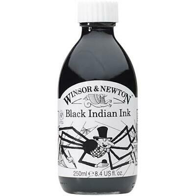 WINSOR & NEWTON DRAWING INK 250ml - Black Indian Ink (Waterproof)