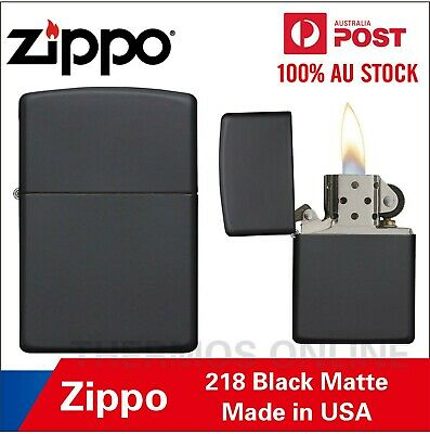 Genuine Zippo Lighter Black Matte 218, Made In USA, OZ Seller Best Price!