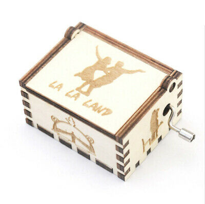 Drop Shipping LA LA LAND Wooden Carving Hand-crafted Music Box Chiristmas Gifts