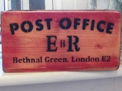 Vintage Style Wood Chest Crate Post Office Box Bethnal Green Rustic Rope Handles
