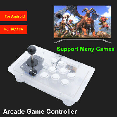 USB Arcade Stick Rocker Game Handle Controller Fighting Joystick Gamepad Android