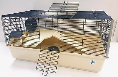 Grosvenor Large Syrian Hamster Cage 2 Tier With Free Water Bottle House & Bowl