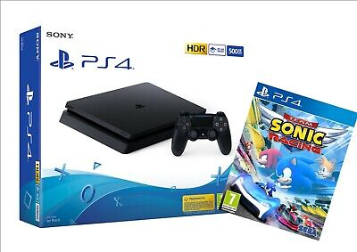 Sony Console Playstation 4 500Gb Ps4 Chassis Slim F + Gioco Sonic Team Racing