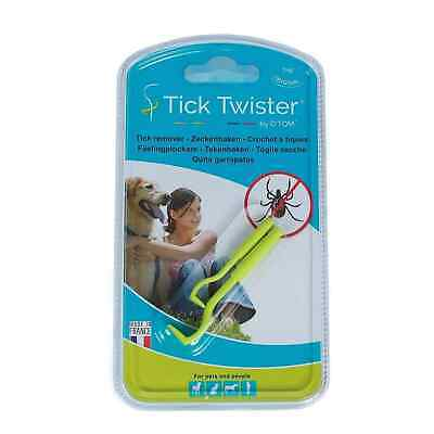O'tom Tick Twister Dog Cat Human Animal Ticks Removal UK Tool Blister Pack