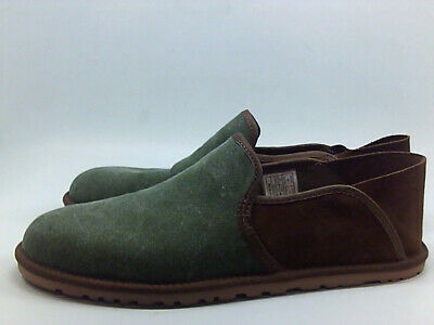 d8d0f3a4e2be3 Ugg Australia Mens Cooke Canvas Leather Round Toe Penny, Olive Green, Size  8.0 5