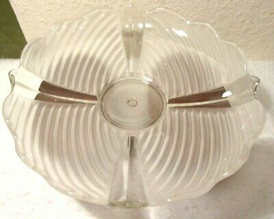 "MINT VINTAGE Art Deco 13""Dim Frosted Glass Ceiling Light Shade Cover"