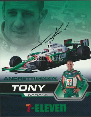 Tony Kanaan -Indy Race Car Driver  Autographed 8x10 Photo  c/w COA 7-11 Andretti
