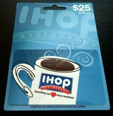 $25 Ihop Restaurant Gift Card No Fees No Expiration!!! G642T