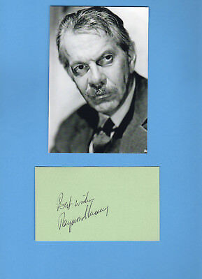 Raymond Massey (Dr. Kildare, Abe Lincoln in Illinois) Signed Card With Photo