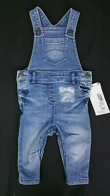 Baby Boys/Girls UNISEX Clothes M&S Skinny Denim Dungarees 3-6 & 6-9 Months BNWT
